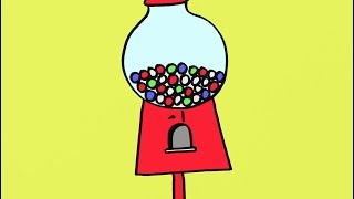 How To Draw A Gumball Machine Step By Step Easy Drawing Lesson For Elementary School Students