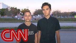 School shooting survivors demand action on gun control