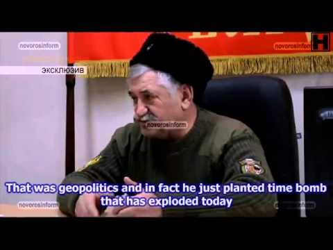 eng subs Interview with ataman Kozystin about situation on the frontlines PART 1 21 10 14