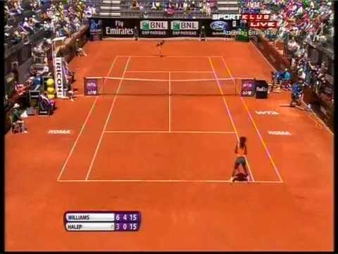 Serena Williams vs Simona Halep - WTA Rome 2013. Set 2 Last 3 Games Highlights (bojan svitac)