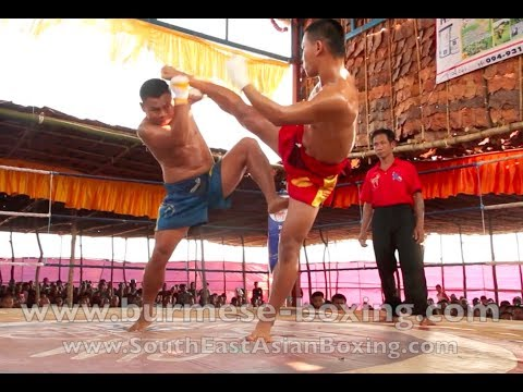 Lethwei Burmese Boxing [HD] - Fight Tournament near Eindu (3) - Kayin State Myanmar - Thingyan 2013 Image 1