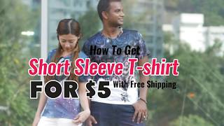 All Over Print T-shirts Available For $5. Free Shipping