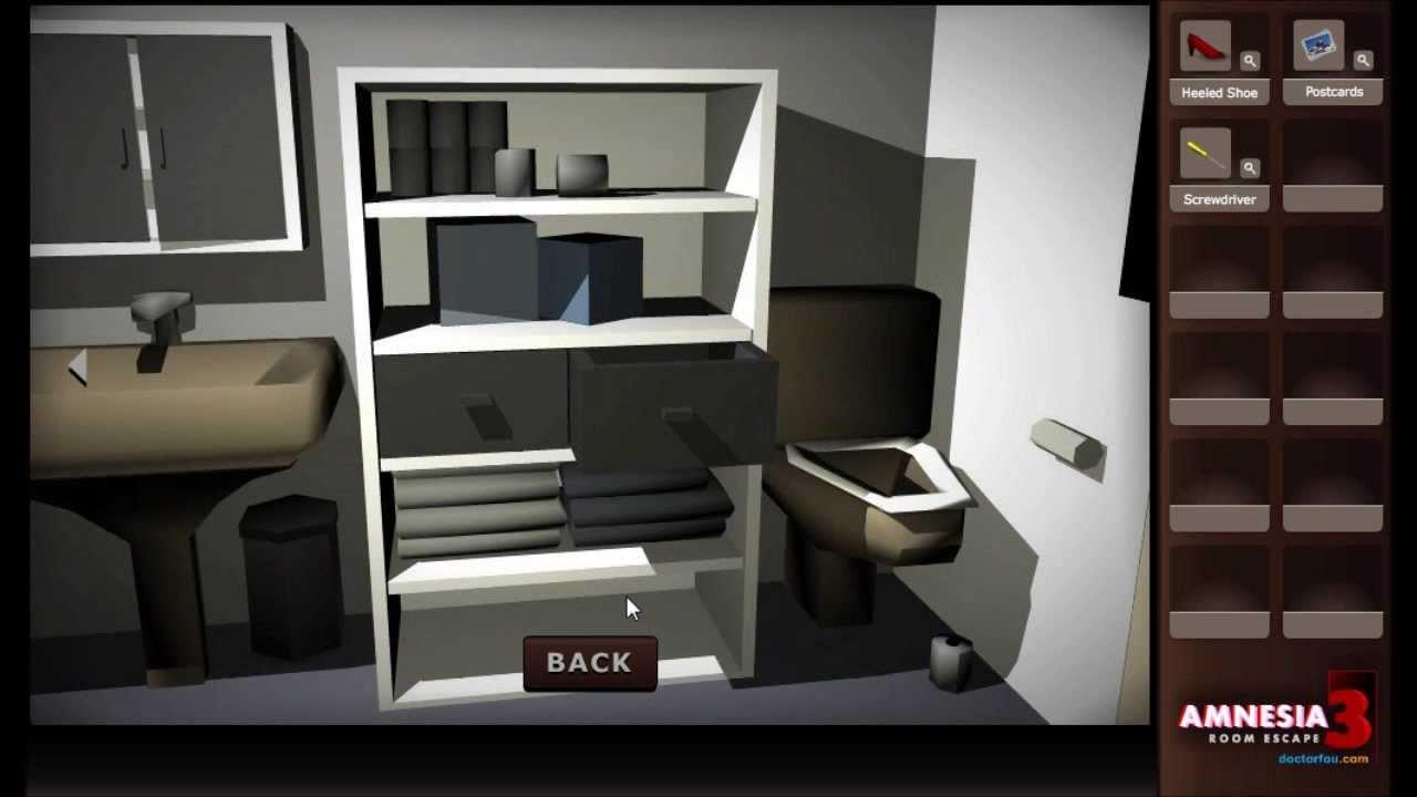 Amnesia 3 room escape game walkthrough youtube for Small room escape 6 walkthrough