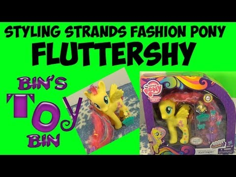 My Little Pony FLUTTERSHY Styling Strands Fashion Style Pony Review! by Bin's Toy Bin