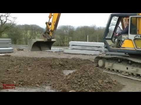 Building a Cow Shed (19) - road-building and foundation consolidation.