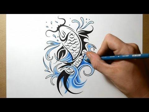 how to draw maori designs