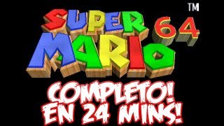 Super Mario 64 COMPLETO en 24:02 mins! | Speedrun!