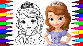 How to Draw Sofia the First Coloring Pages l Disney Junior Drawing Videos l  Art for Kids