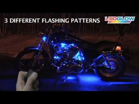 Blue LED Flexible Motorcycle Lighting Kit