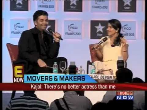 Karan Johar & Kajol in a candid chat at FICCI Frames.