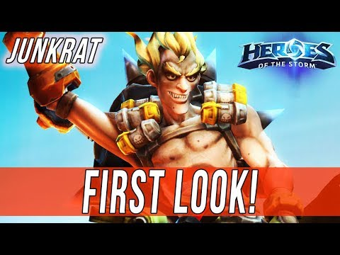 JUNKRAT, FIRST LOOK! - SOLO QUEUE SILLINESS [Heroes Of The Storm]