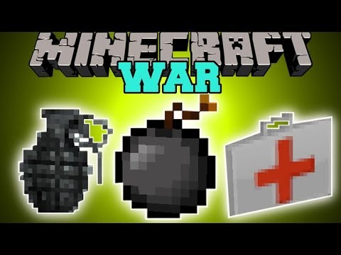Minecraft: WAR EXPLOSIVES INSTANT STRUCTURES EPIC GUN MORE Mod Showcase