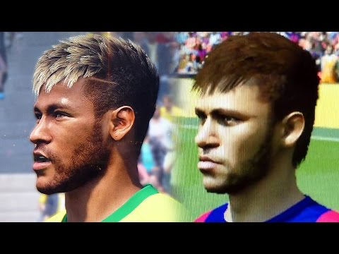 Gamescom: Fifa 15 vs Pes 2015 Face Comparison   Head to Head Faces