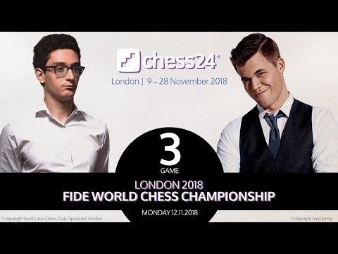 Caruana-Carlsen, Game 3 - 2018 FIDE World Chess Championship