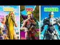 NOOB vs PRO vs HACKER in Fortnite Battle Royale!