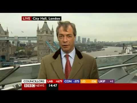 UKIP Nigel Farage on Baroness Warsi insult -  BBC local elections results (04May12).flv