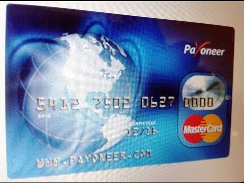 Como Cobrar Dinero Por PayPal Con La Tarjeta Payoneer 2014   Abrir Cuenta Bancaria en USA GRATIS