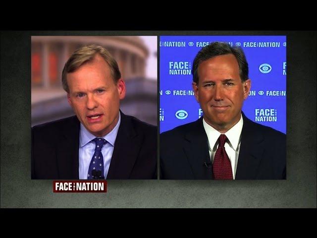 """Santorum on Trump: """"A unique individual"""""""