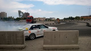 Insane drift with Audi, almost kissing the wall in La Mare Tuning Fest - Mangalia,Romania