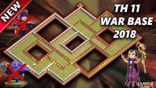 New Th11 War Base 2018 | Anti 2 Star/Anti 3 Star/Anti bowler valk/Anti queen walk miner