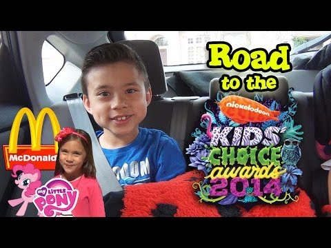 Road to the Nickelodeon KIDS' CHOICE AWARDS! McDonald's MY LITTLE PONY Happy Meal Action