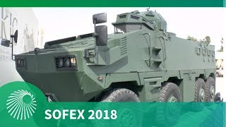 SOFEX 2018: KADDB Al Mared 8x8 - The largest AFV built in Jordan