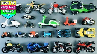 Learn Bikes For Kids Children Babies Toddlers | Motorcycles | Bikes | Kindergarten | Kids TV Videos