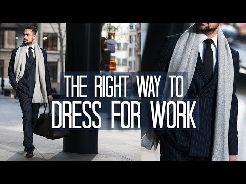 HOW TO DRESS FOR WORK   Men's Style Advice by Carl Thompson
