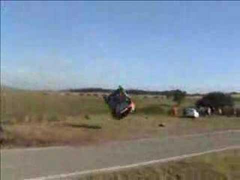 Жесткая авария на авторалли