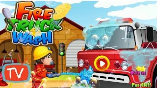 Fire Track Wash - Clean Up Salon And Repair Toys - Kids Gameplay