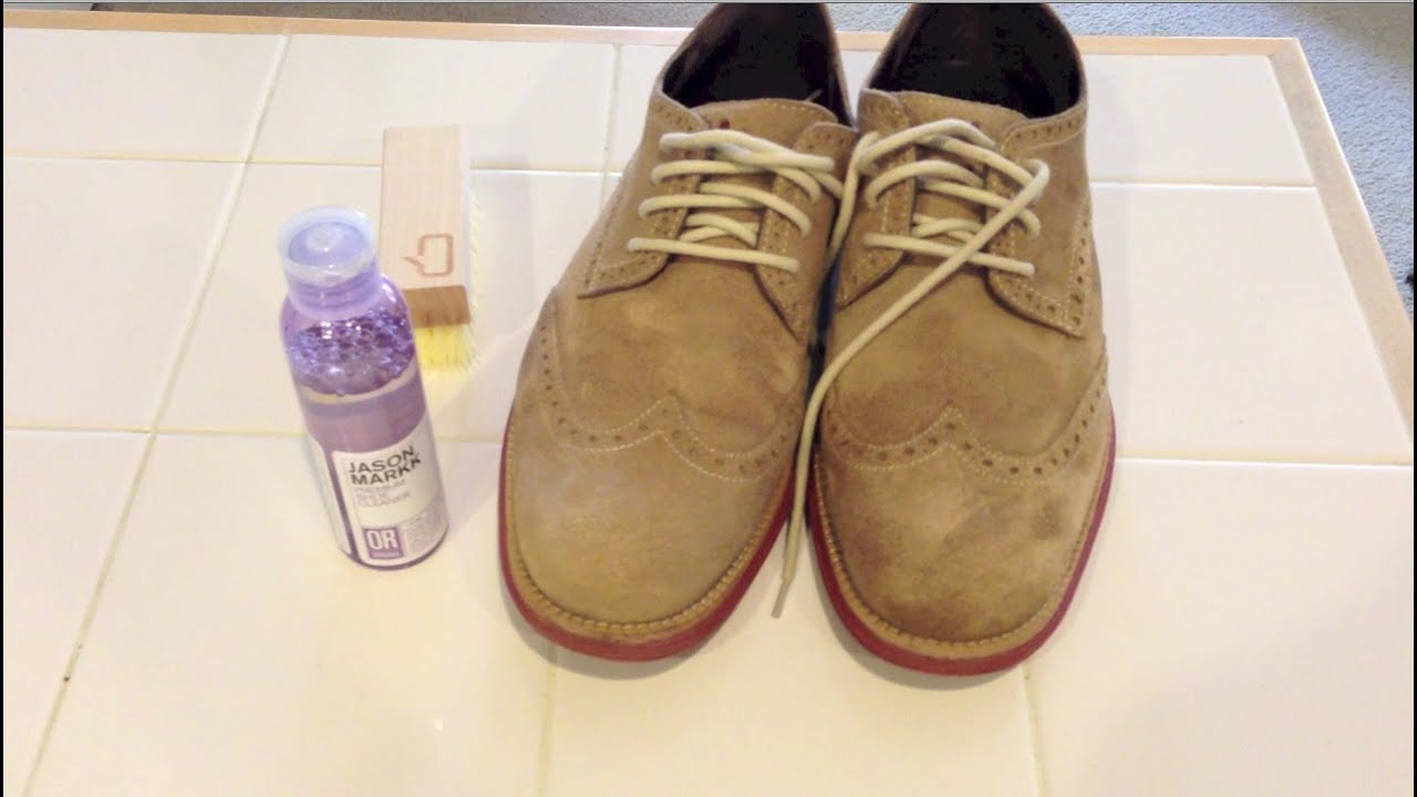 Clean Beige Suede Shoes
