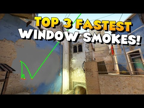 CS:GO - TOP 3 FASTEST MIRAGE MID WINDOW SMOKES!