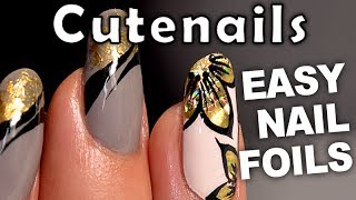 Nail art tutorial- Easy Foils design