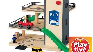 Play Tive Junior CAR PARK Toy Review!Playtive Junior Wooden Toy!