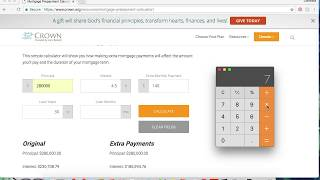 Video 3: Mortgage Pre-Payment Calculator (Tutorial)