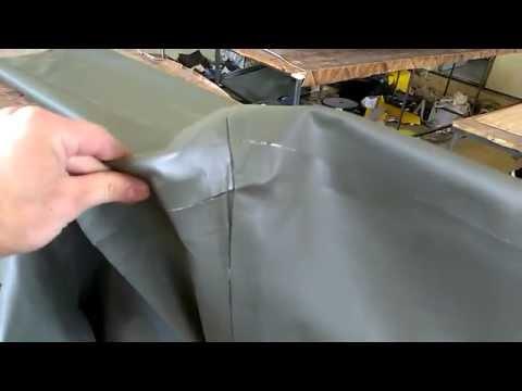 ремонт резиновой лодки жидкой латкой