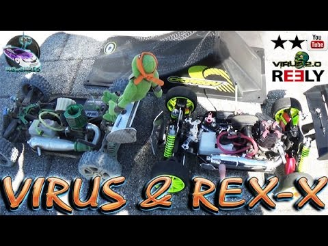 GP 1:8 Nitro Racing Buggy Verbrenner Virus -&- REX-X