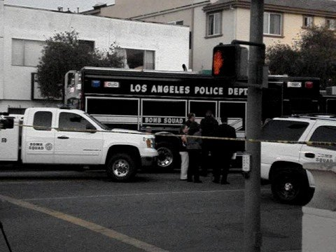 LAPD Bomb Squad at Motor Ave in Los Angeles