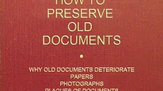 Preservation of Documents