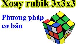 Hướng dẫn giải rubik 3x3x3 - Phương pháp cơ bản