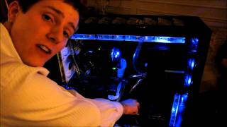 iBuyPower Suite @ CES 2011 Featuring the Erebus Water Cooling Gaming System Linus Tech Tips