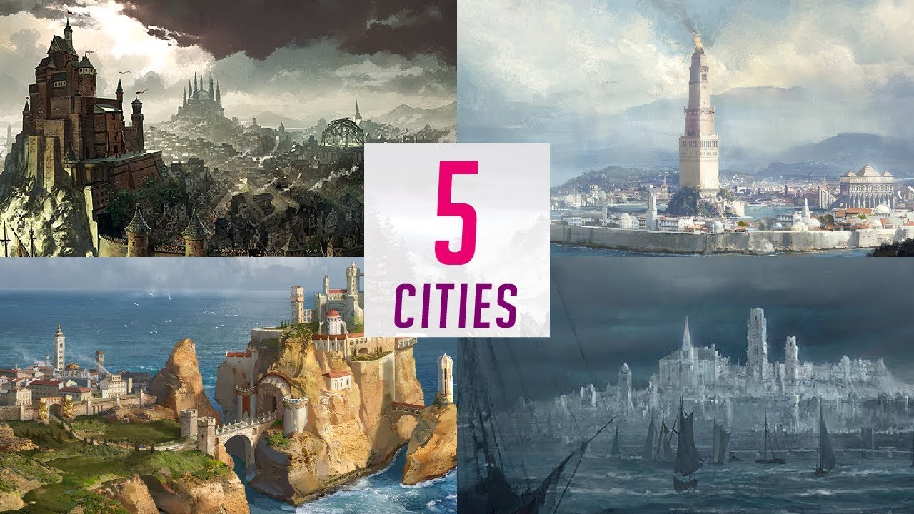 5 Cities Of Westeros Map Detailed Game Of Thrones
