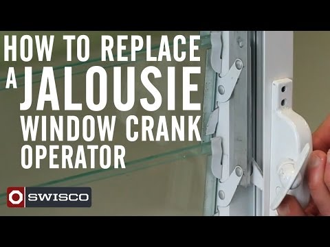 In this tutorial video we show you how to replace a jalousie window crank operator. 39-006 Window Crank Operator http://www.swisco.com/Window-Crank-Operator/...
