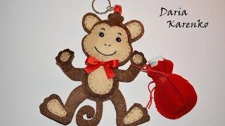 DIY Волшебная обезьянка из фетра.  Мастер класс