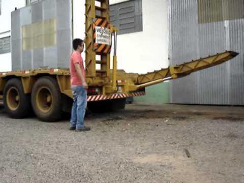 Kits TAKASSE para Rampa carreta prancha ABAIXANDO DER com sistema hidráulico