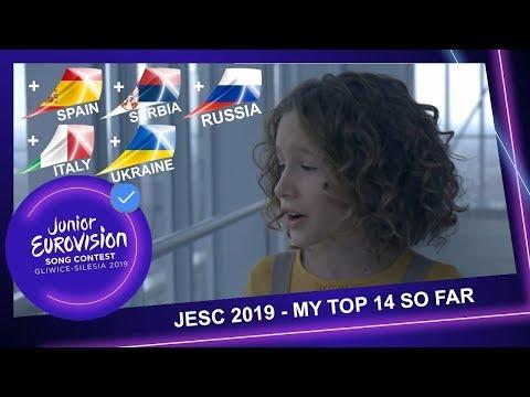 Junior Eurovision 2019 - My Top 14 So Far (+