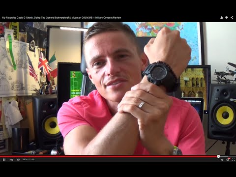 My Favourite Casio G-Shock, Doing The General Schwarzkopf & Mudman G9000MS-1 Military Concept Review