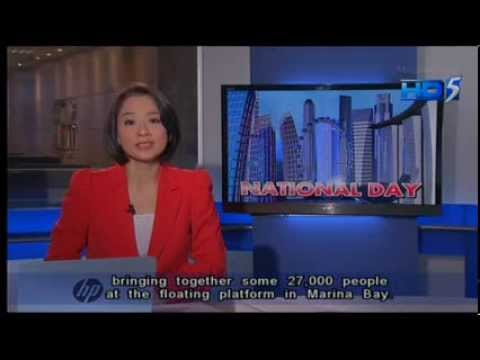 Singapore News 5 Tonight 9:30pm 9/8/13 National Day Coverage