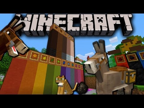 Minecraft 1.6 Snapshot: Color Stained Clay. Donkey Saddlebags. Horse Herds. New Textures 13w19a