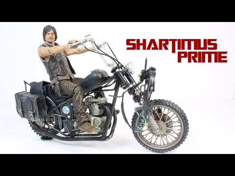The Walking Dead Daryl Dixon with Chopper Deluxe Box Set AMC TV Series 5 Figure Review